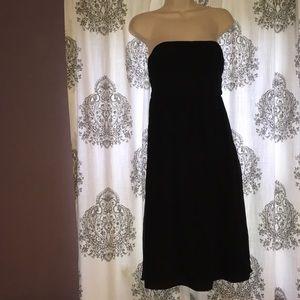 J. Crew Black Silk Strapless Dress, 4